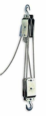 Tuf-Tug Rope Block and Tackle, Lifting Capacity 350 lb., Pull Capacity 700 lb.,