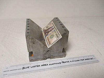 "HUGE Vee V Block, Precision Ground, Hardened, Large Size 6"" x 6"" x 5"" Tall"