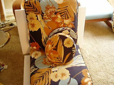 Set Of Two Vintage 1950's Rattan Lounge Chair Cushions - Beautiful! With Pillows