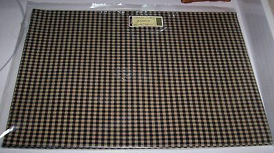 Longaberger Reversible PLACEMATS Set of 2 KHAKI CHECK - New & On Hand - NICE!