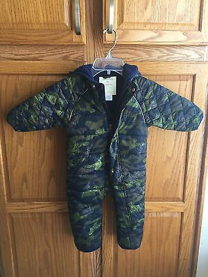 HANNA ANDERSSON boy's 18 mos-2T 80 snowsuit camo camouflage bunting winter coat