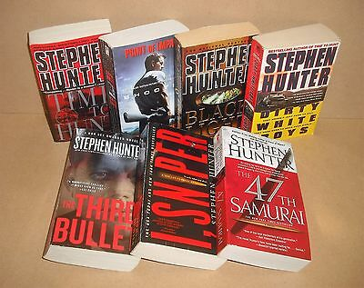 7 Stephen Hunter lot Bob Lee Swagger Point of Impact, Time to Hunt, Black Light,