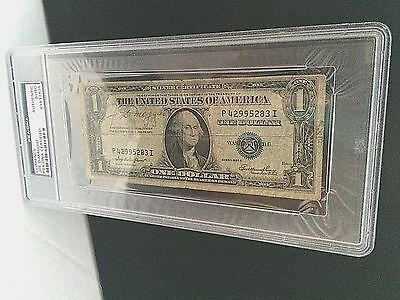 RARE JOE DiMAGGIO SIGNED SERIES 1935E SILVER CERTIFICATE $1BILL PSA ENCAPSULATED