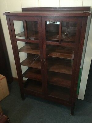 Antique Mission Oak Cabinet