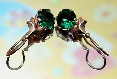 Awesome Delicate Vintage EARRINGS Silver GOLD PLATED 875 USSR