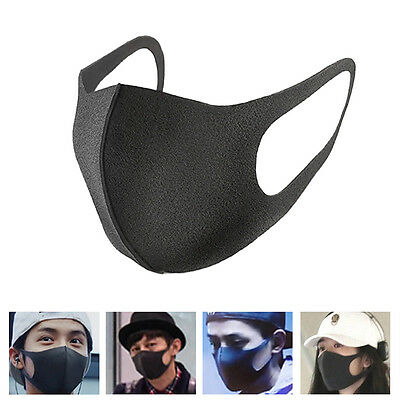 3Pcs Cycling Anti Dust Haze Flu Sponge Mouth Face Mask Respirator For Adult /Kid