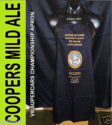 Coopers Mild Ale Beer V8 Supercars Bar Bbq Apron ~ New In Bag ~ Free Postage