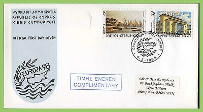 Cyprus 1998 Europa Festivals set complimentry  First Day Cover