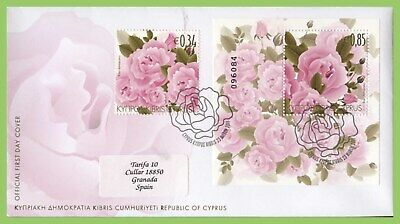 Cyprus 2011 Flowers sheet & Stamp on First Day Cover