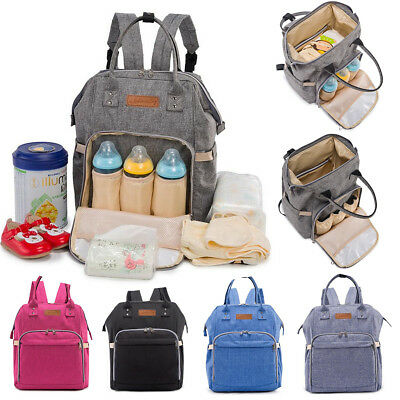 AU Multifunctional Diaper Backpack Nappy Baby Mummy Changing Bag Travel Bags New