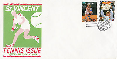 (03745) CLEARANCE St Vincent FDC Tennis 22 June 1987