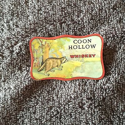 Coon Hollow Whiskey Label- Peoria, Illinois!!