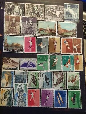 San Marino  Stamp Selection  Mint Hinged L3
