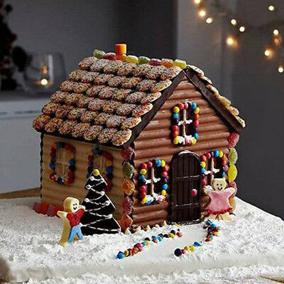 1pcs Christmas House Xmas Cake Mold Chocolate Cookie Baking Mould DIY Decor Tool