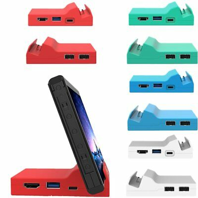 Portable Mini Docking Station Case Cover Dock Mount + Tool For Nintendo Switch