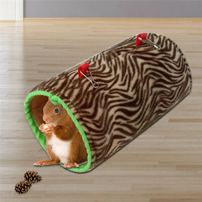 Small Pet Warm Playing Tunnel Tube Hamster Guinea Pig Ferret Play Toys Bed Nest