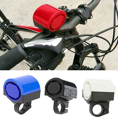Electronic Loud Bike Horn Cycling Handlebar Alarm Ring Bicycle Bell 4 Color set