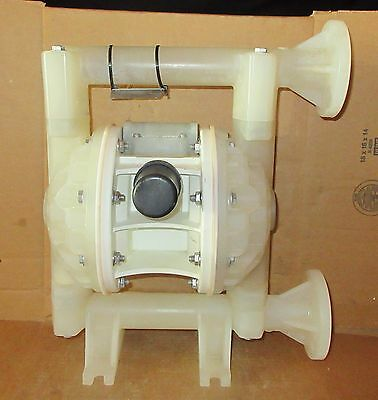 "Versamatic E1 1"" Air Diaphragm Pump Poly Body w Teflon Diaphragms E1PP5T5T9"