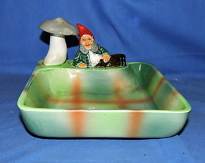 Wembley Ware Elf with Red Hat with Mushroom Dish