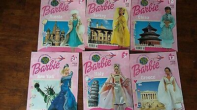 Job Lot x 6 Barbie Discover The World Collectors Magazines