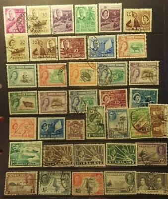 North Borneo-Nyasaland Stamp Selection used L25