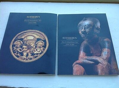 Two Sotheby's Pre-Colombian Art Auction Catalogs 1993 and 1994