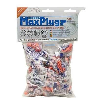 Oxford Max Plugs - 50 Pack pairs Ear Plugs Noise Reduction Safety New