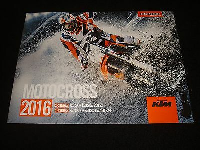 Ktm 125/150/250Sx, 250/350/450Sx-F 2 & 4 Stroke Uk Brochure 2016 New, Old Stock
