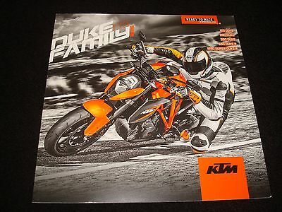 Ktm Duke 125, 390, 690, 690R, 1290 Super  Uk Sales Brochure 2015 New, Old Stock