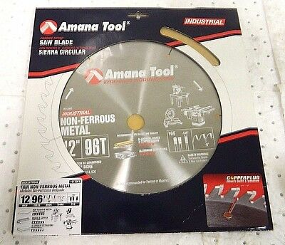 "Amana Tool Wet & Dry Cut Saw Blade 96T 12"" Diam 512961"