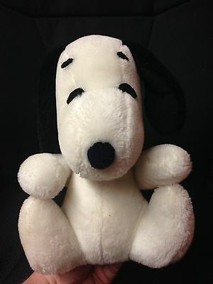 "Vintage Snoopy Dog Plush 9.5"" Doll - Tags Cut Off Peanuts Charlie Brown"