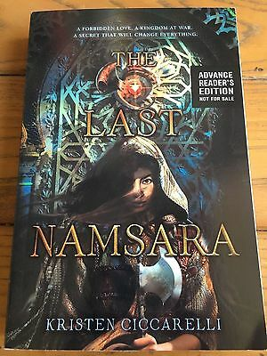 The Last Namsara by Kristen Ciccarelli ARC/Proof Oct 2017 YA READY TO SHIP!
