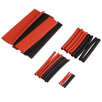 150Pcs Heat Shrink Wire Wrap Assortment Set Sleeves Tubing Tube Cable Black+Red