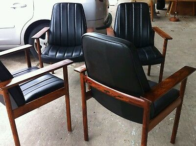1960s rosewood dining / chairs danish dokka