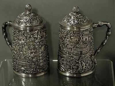 Chinese Export Silver Mug     Set              MET MUSEUM OF ART COLLECTION