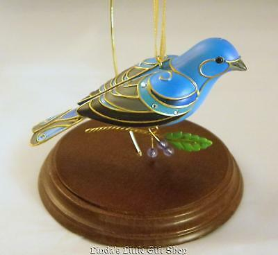 2013 Hallmark Ornament Beauty Of Birds Indigo Bunting