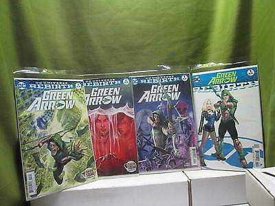 DC Comics Green Arrow Rebirth #1 Lot of 5 Comics #1-one shot ,#1,+#2 +#3 + #4