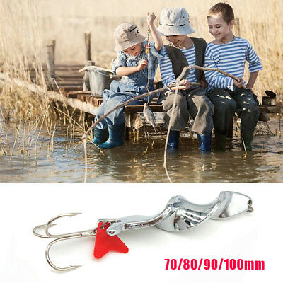 Fishing Spoon Casting Lure Metal Hard Artificial Fish Bait Tackle Treble Hook