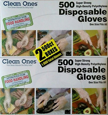 Clean ones Disposable Gloves (1000 Count) .
