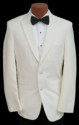 Ivory Off-White Perry Ellis Rio Tuxedo Dinner Suit Jacket Wedding Prom Cruise