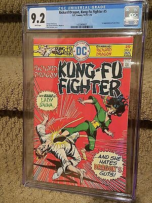 Richard Dragon Kung Fu Fighter 5 CGC 9.2 1st Appearance Lady Shiva White Pages