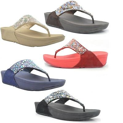 Womens ladies Fitflop Rock Chic sandals Fit flops summer beach wedge sandals 221