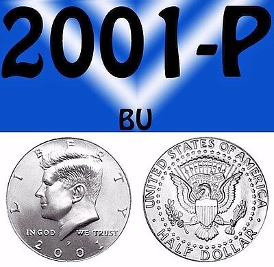 2001-P Kennedy Clear Bright Uncirculated Half Dollar.===Bu===C/n===