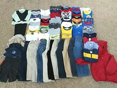 HUGE lot 75 pcs GENTLY used boys clothes size 4t fall winter