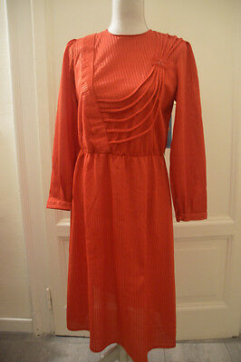 Abito rosso vintage anni '80s red vtg dress EU38 IT42 UK10