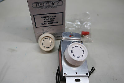 Regency Ceiling Fan Universal 3-Speed Rotary Variable Control Switch 1.25A 120V