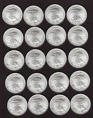 American Eagle 1 ounce 1998 Silver coins!!! Group of 20!!