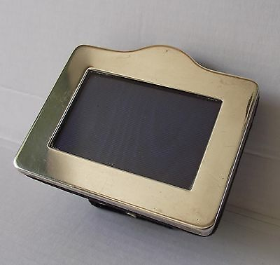 G&C Kitney STERLING SILVER PHOTO FRAME LONDON 1987 MINIATURE EASEL FREESTANDING