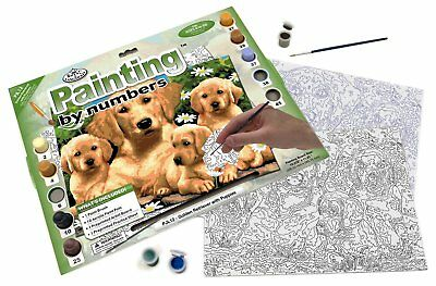 Royal & Langnickel PJL12 Golden Retriever with Puppies Painting by Numbers Kit
