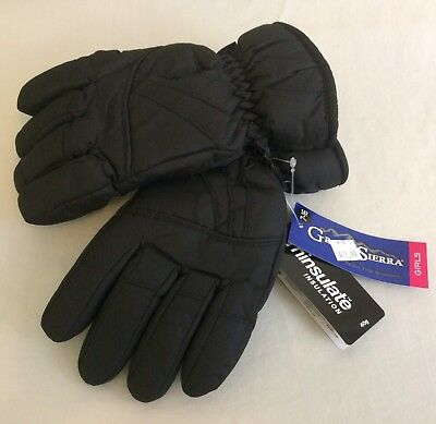 Girl's Youth Black Thinsulate Ski Snow Winter Gloves Size 7-14 Yrs NWT!